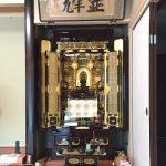 お仏壇の買い替えと仏像・仏額の修復を行いました。滋賀県多賀町、臨済宗妙心寺派のお客様