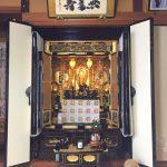 滋賀県東近江市にて、お仏壇の買い替えと仏像の修理、仏額の新調をさせていただきました