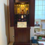 モダンな紫檀系仏壇を新調いただきました。真言宗、大阪市のお客様。「失敗しない仏壇選び」資料請求より