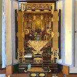 橘28号前開き、浄土真宗本願寺派(お西)のお仏壇へお買い替え。リフォームした仏間にちょうどよいお仏壇、滋賀県米原市のお客様