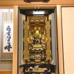 最上級の材料・仕様のお仏壇を製作。桜花20号前開き、浄土真宗本願寺派(お西)のお仏壇。大阪府茨木市のお客様