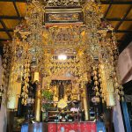 近江八幡市のお客様のご依頼で、お寺様へご寄付される人天蓋を新調。12年前にも幢幡をご寄付