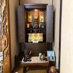 タモ(ダーク色)扉無垢の国産家具調仏壇をご購入いただきました。曹洞宗、滋賀県東近江市のお客様